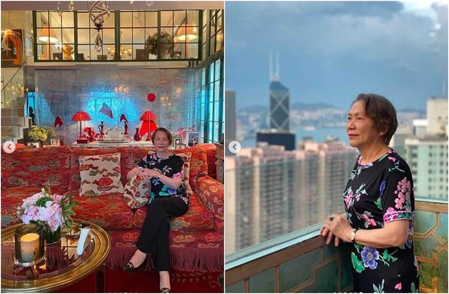 除了豪宅室內吸睛,在陽台就能把香江夜景盡收眼底。(圖/翻攝自IG)
