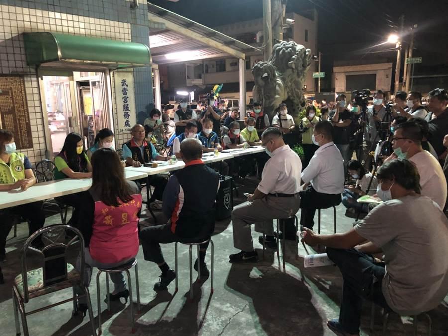 和美鎮柑井里里民大會,共有近160人踴躍出席參與。公所主管、地方民代也都到場關心。(謝瓊雲攝)