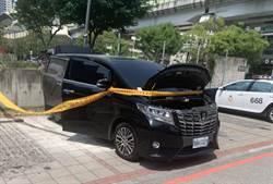 台中市府停車場火燒車  消防局:疑車內打火機不敵高溫