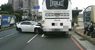 失速衝撞國光客運逃逸 女駕駛到案供稱:太害怕!
