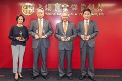 上海商銀榮獲海外信用保證三大獎 績效卓著