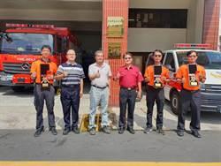 災難現場救人起死回生  6消防英雄受表揚