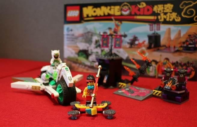 LEGO悟空小俠系列80006白龍馬戰車開箱。(黃慧雯攝)