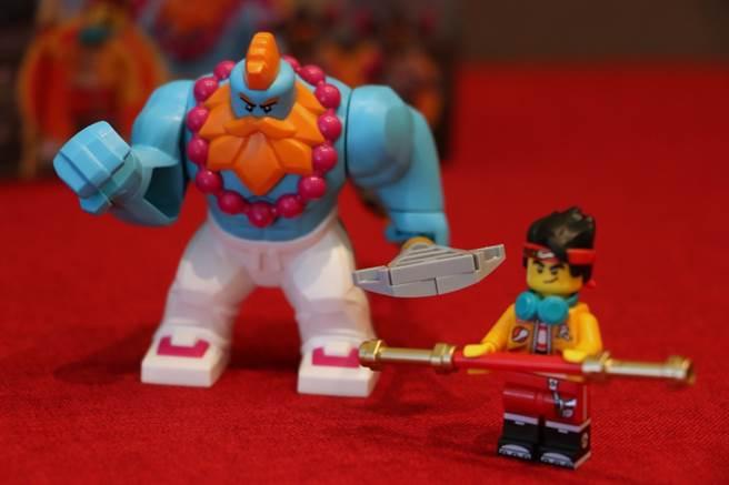 LEGO悟空小俠系列80007有沙大力與悟空小俠(齊小天)人偶。(黃慧雯攝)
