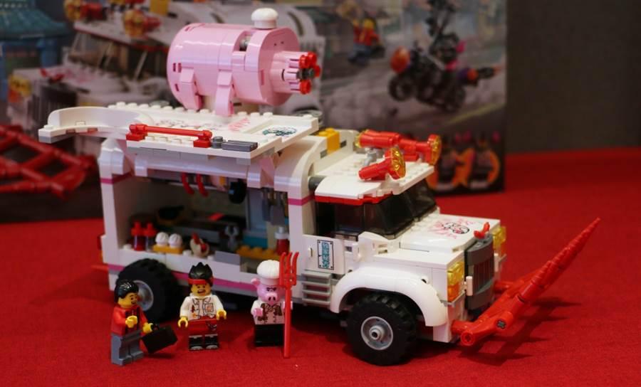 LEGO悟空小俠系列80009朱大廚移動釘耙車開箱。(黃慧雯攝)