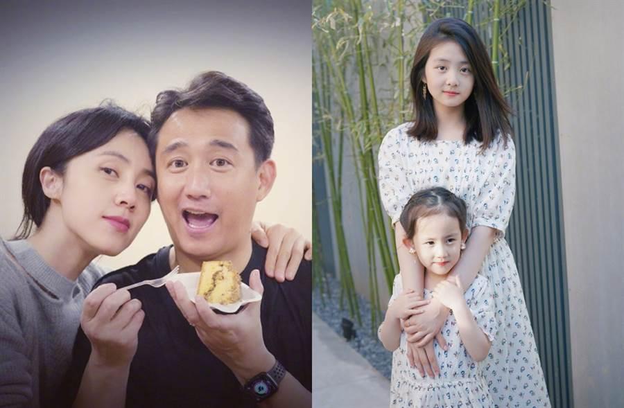 黃磊和黃莉一家生活幸福。(圖/翻攝自多媽7788微博)