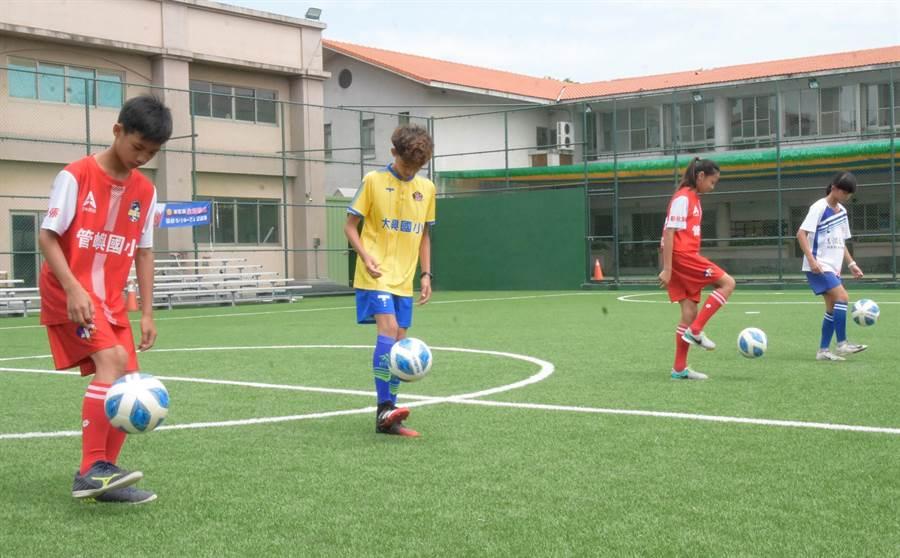 足球世界盃彰化縣預賽,大興國小足球隊晉級,代表參加全國賽。(吳敏菁攝)