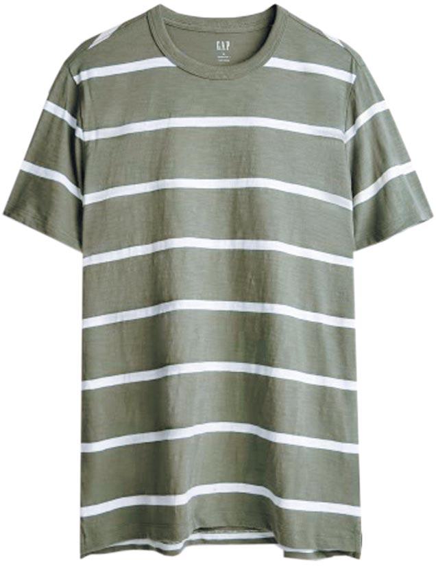 Gap 2020春夏條紋T-shirt,999元。(Gap提供)