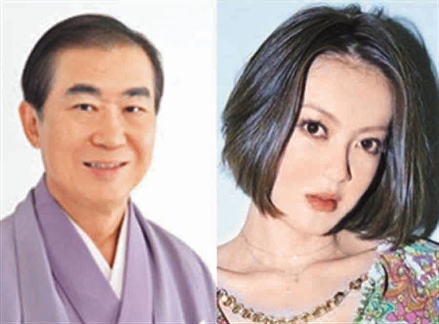 桂文枝(左)是紫艷短短41年生命中唯一的男人。(翻攝日網)