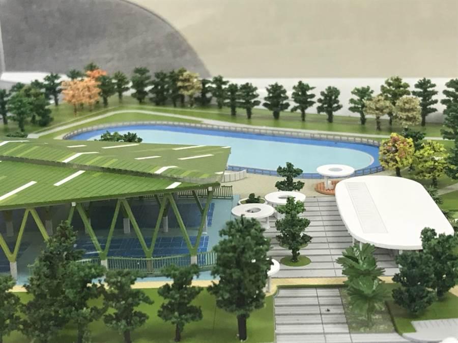 王爺壟運動公園預計將有國際標準直排輪場地、4座風雨籃球場等設施。(縣府提供/莊旻靜新竹傳真)
