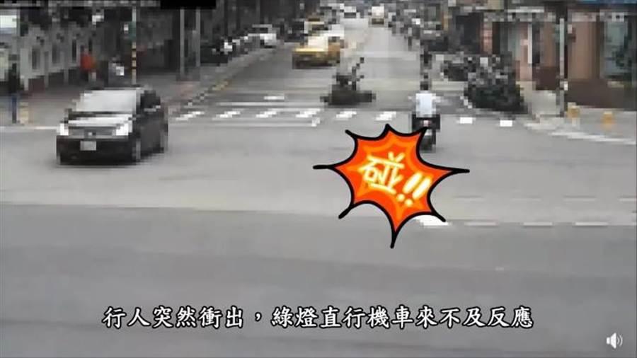 交通「嘉玲」新運動,台北市警籲請民眾共同遵守號誌。(讀者提供/吳家詮傳真)