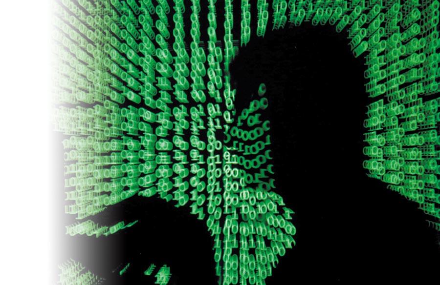 圖為駭客示意圖。(路透)