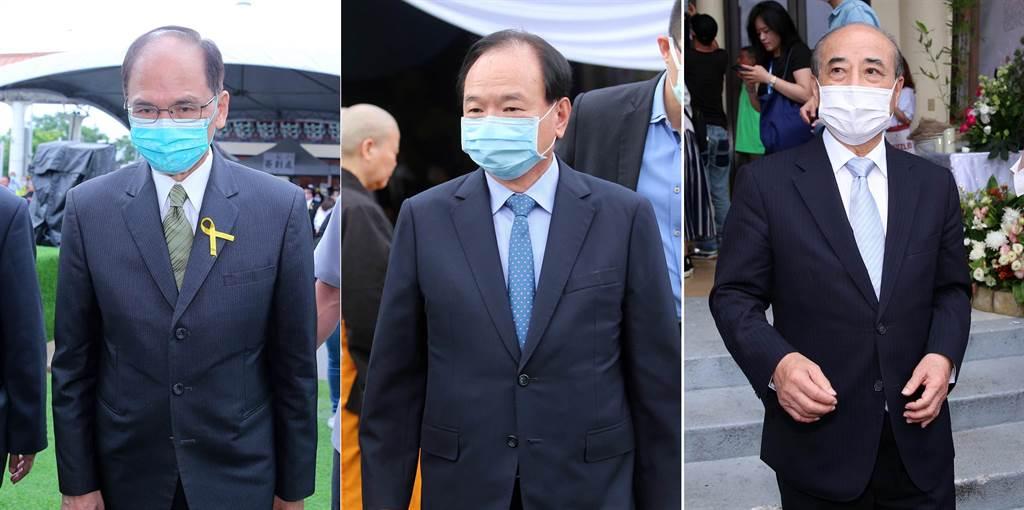 立法院長游錫堃 (左起)、全聯董事長林敏雄、前立法院長王金平。(黃世麒攝)