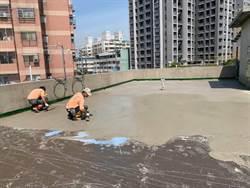 警友站神救援 派出所舊舍梅雨季前完成防水工程