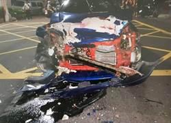 男子酒駕煞車不及 直撞迴轉車雙方輕傷