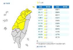 雨用倒的!氣象局:4縣市發布大雨特報
