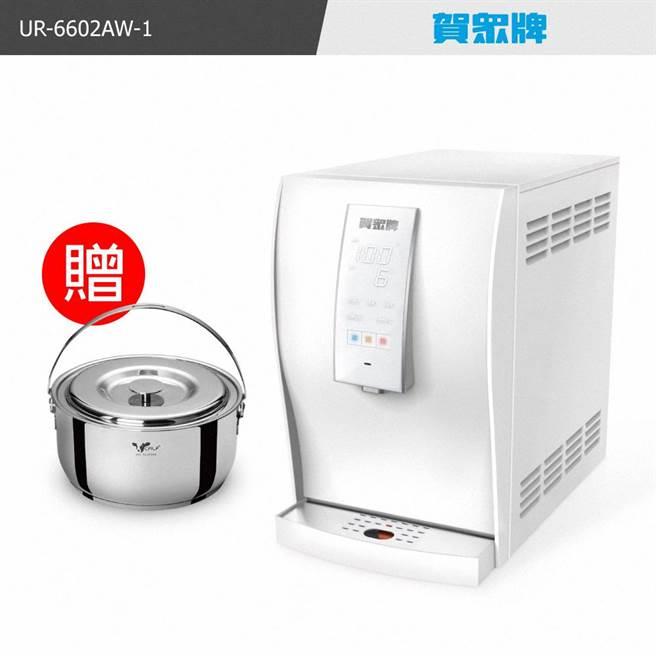 momo購物網的賀眾牌桌上型極緻淨化飲水機UR-6602AW-1,即日起至6月18日年中大促活動,momo特價2萬9900元。(momo購物網提供)