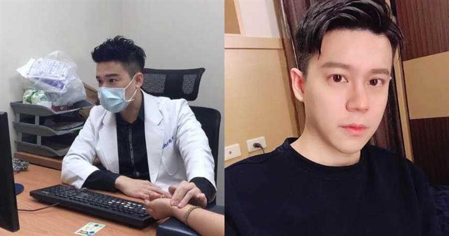新莊一名男中醫師因長相帥氣爆紅。(圖/翻攝自IG@hanyitang_)