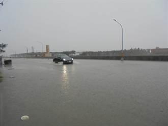 雲林沿海豪雨 低窪地區1度淹水