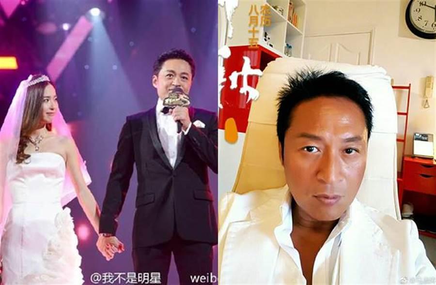 馬景濤與演員吳佳尼離婚後,雙方仍維持良好關係。(圖/取材自吳佳尼、馬景濤微博)