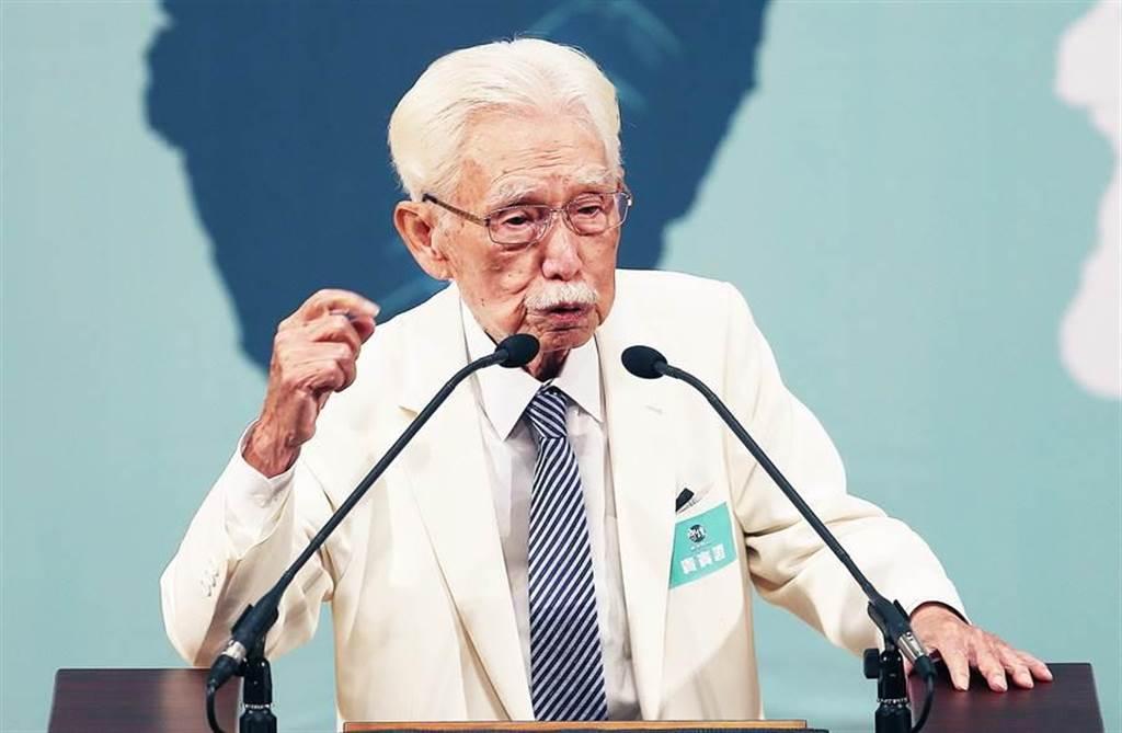 辜寬敏:制定台灣新憲法有強烈社會共識。(本報資料照)