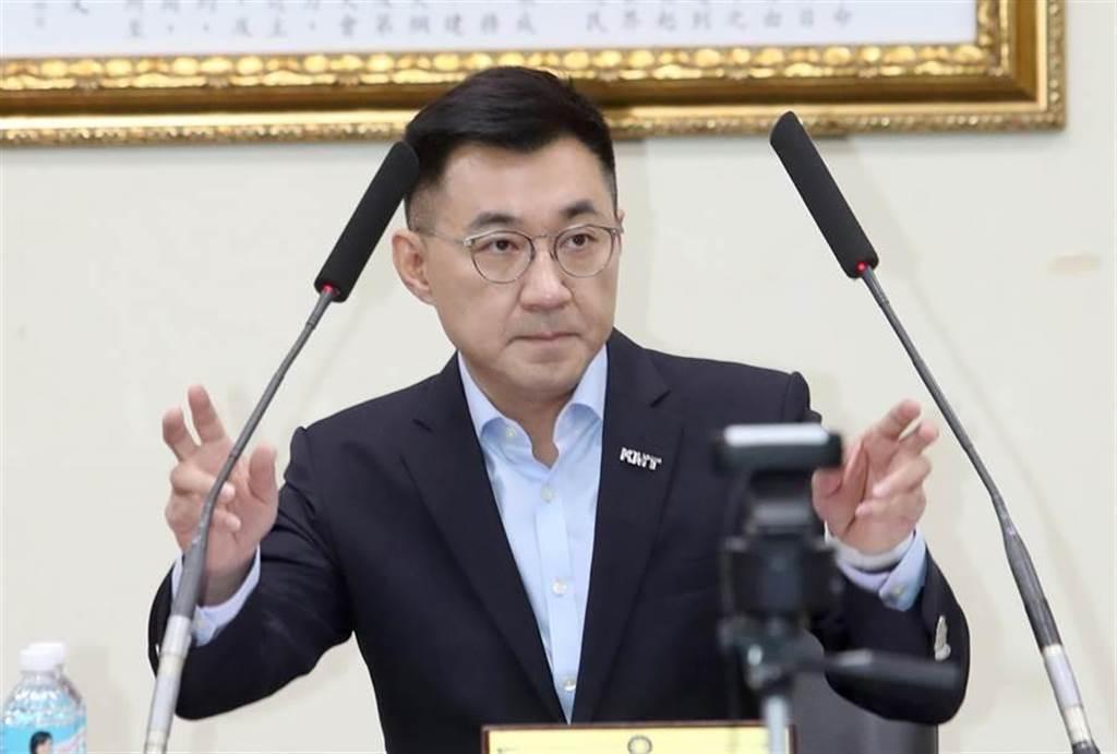 國民黨主席江啟臣。(鄭任南攝)