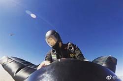 影像曝光!「極限女神」飛鼠滑翔19秒 急墜百米消失鏡頭前