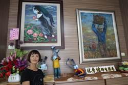 名畫人物戴口罩 白河師生共推「罩漾迷人」藝術展