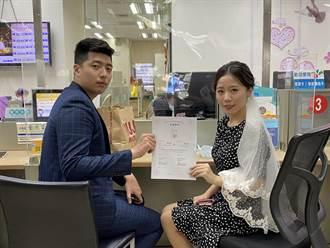 疫情衝击新人延后宴客 桃594对登记结婚