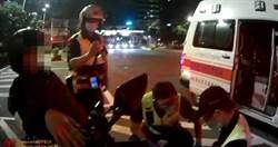 小腿遭排氣管刮噴血見骨 騎士迷航4公里問警:醫院在哪