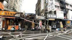 中市中華夜市火噬16戶攤商店家  街廓2300平方公尺慘付一炬