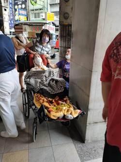 中華路大火住戶驚恐3人傷1臥床老婦送醫
