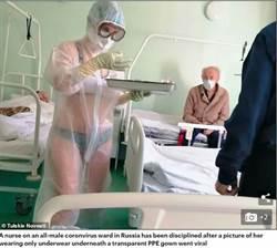 護理師穿透明防護衣巡房「內衣走光」 不免罰還成女模