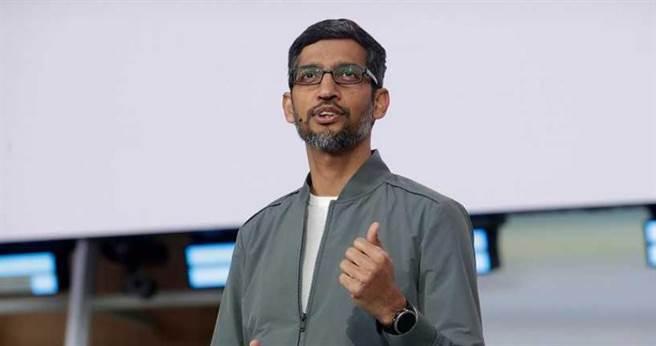 谷歌現任執行長皮查。(圖/美聯社)