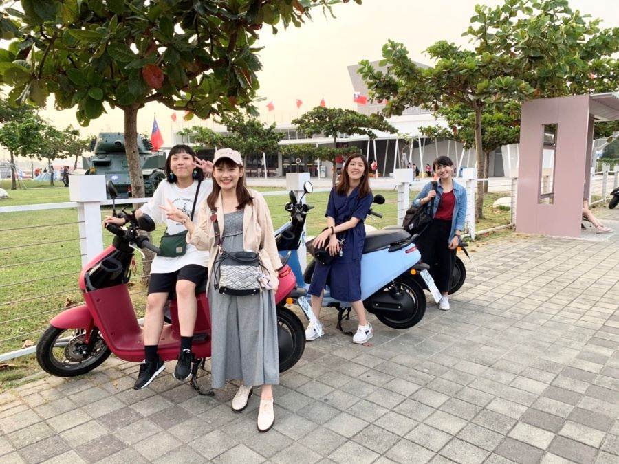 台南Gogoro租車_台南古巷速客達。(KKday 提供)