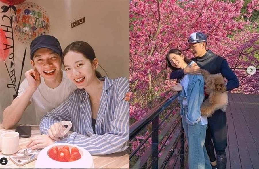 辰亦儒、曾之喬在今年的小年夜閃電宣布結婚。(圖/取材自曾之喬Instagram)