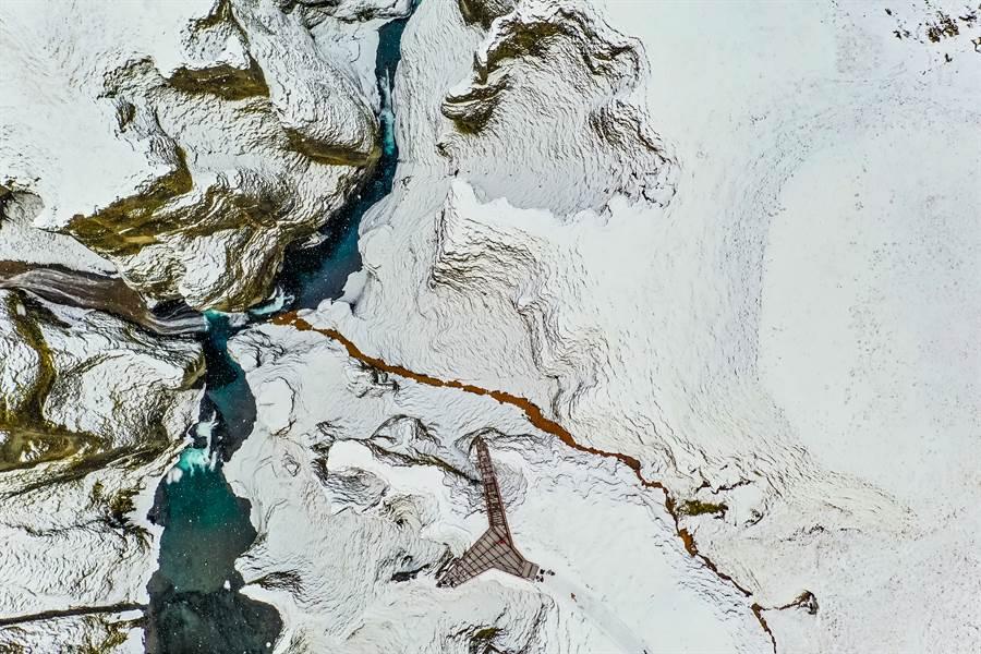 南極冰雪持續融化,造成藻類蓬勃生長,示意圖。(圖片來源/達志影像shutterstock提供)