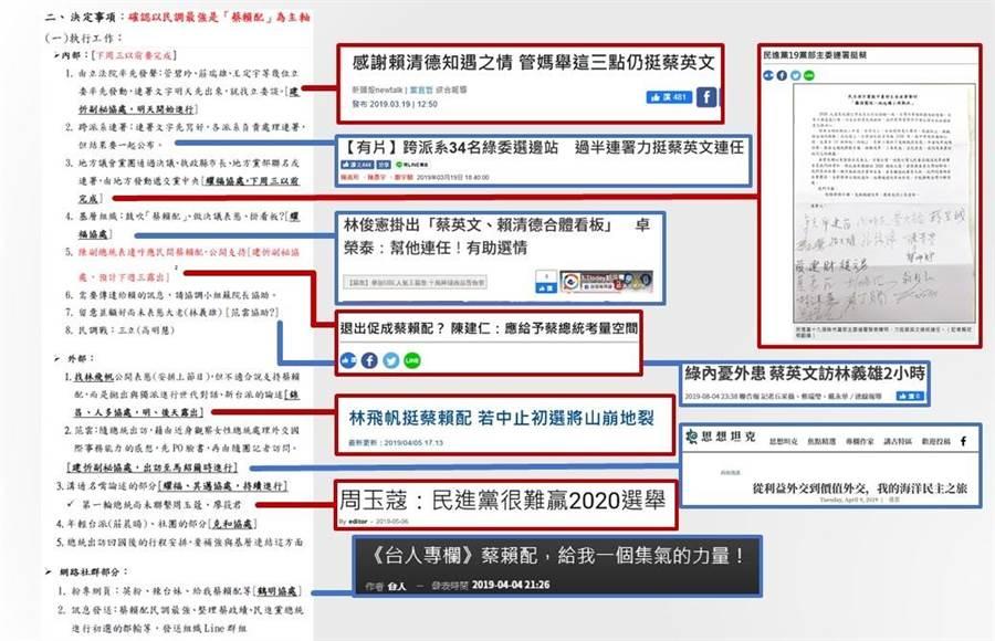 國民黨立委鄭麗文對照外洩文件與新聞整理成表。(取自鄭麗文臉書)