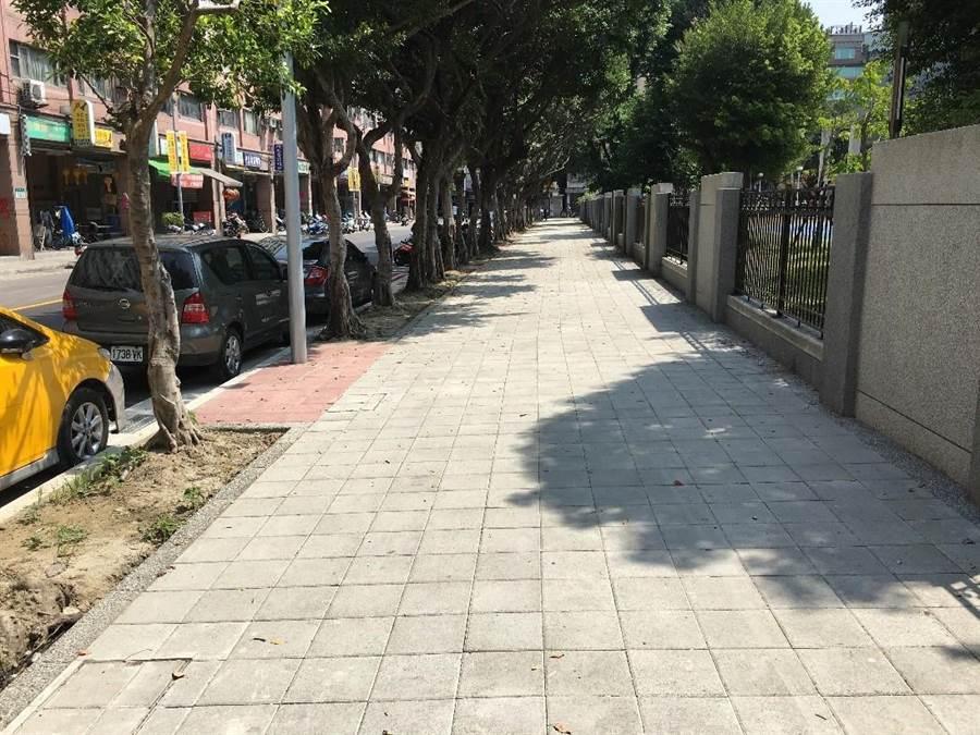 三重碧華國小通學廊道改善後(工務局提供/戴上容新北傳真)
