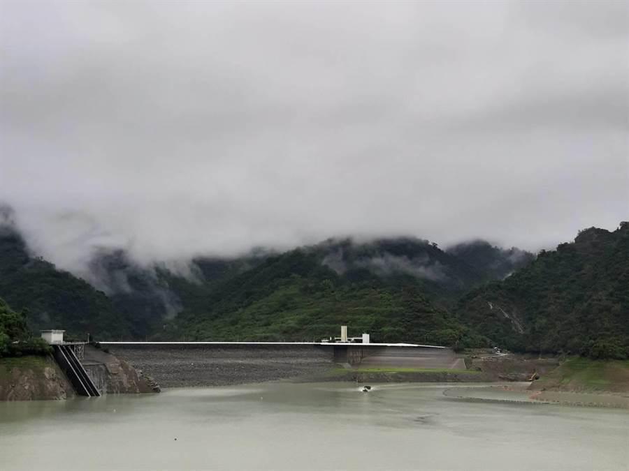 曾文水庫集水區從凌晨至上午11點,累積下了116毫米雨量。(水利署南區水資源局提供/劉秀芬台南傳真)
