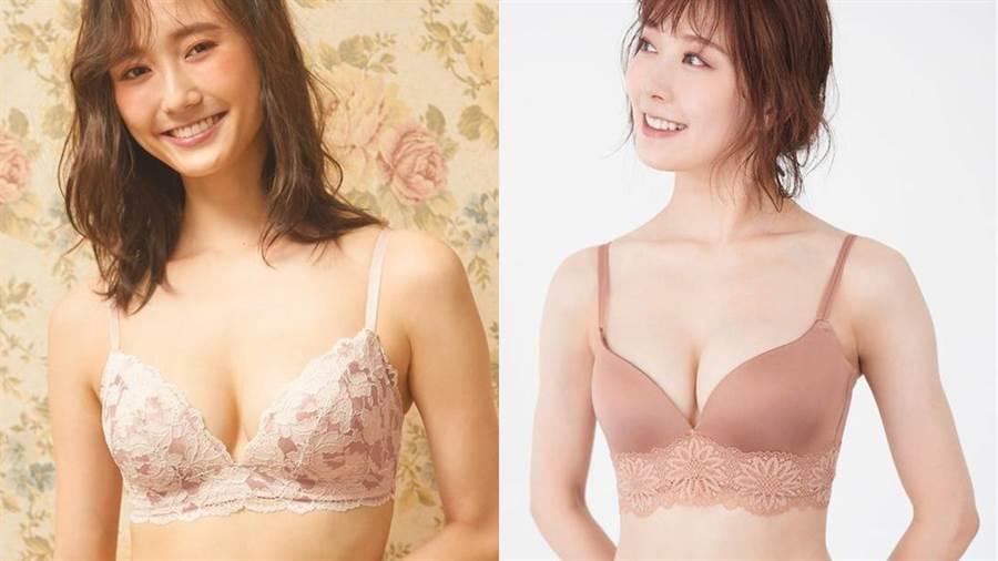 SMART顯瘦簡約蕾絲內衣曾在日本店鋪請超過2萬名女性試穿,90%顧客覺得顯瘦。(圖/品牌提供)