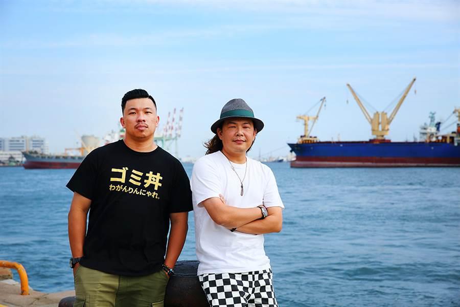 「雄店」市集的創辦人:怪獸(左)、林小豆(右)。(攝影/Cartert/Takao樂高雄/提供)