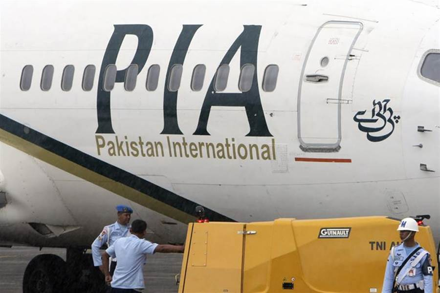 巴基斯坦國際航空班機的檔案照。(美聯社)