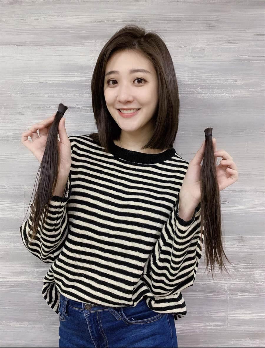 林逸欣為新造型剪去留了5年的長髮。(旋轉娛樂提供)