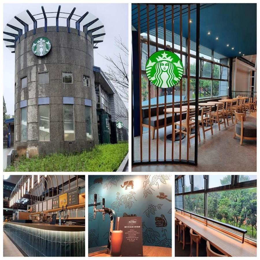(星巴克宣布「新竹動物園門市」將於5/24開幕,改建自新竹市立動物園遊客中心,內裝呼應動物園主題,且在店內就有機會看到動物。圖/星巴克提供)
