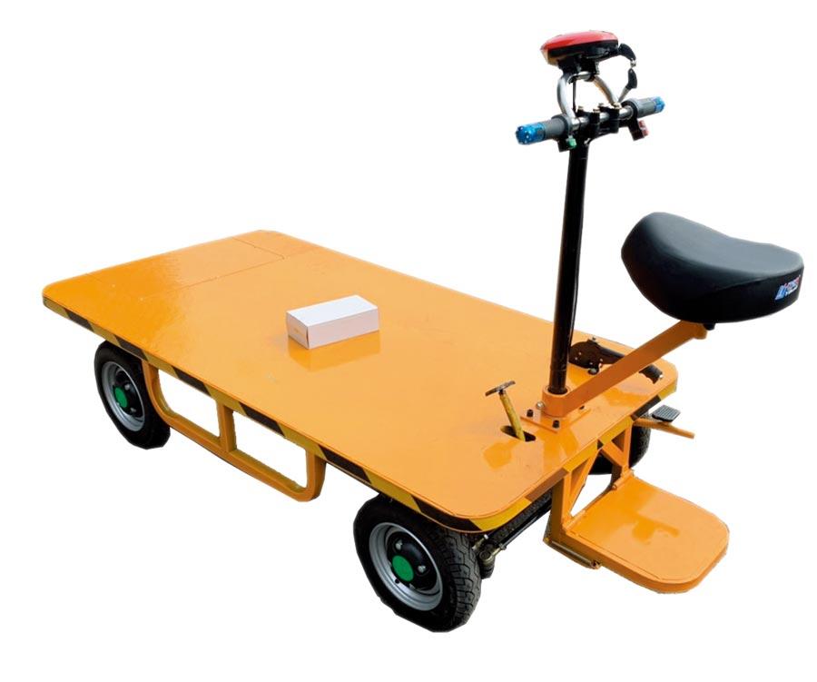 康騏電動車再推出電動倉儲搬運車,無噪音又無空污,可因應室內倉儲使用。圖/康騏電動車提供
