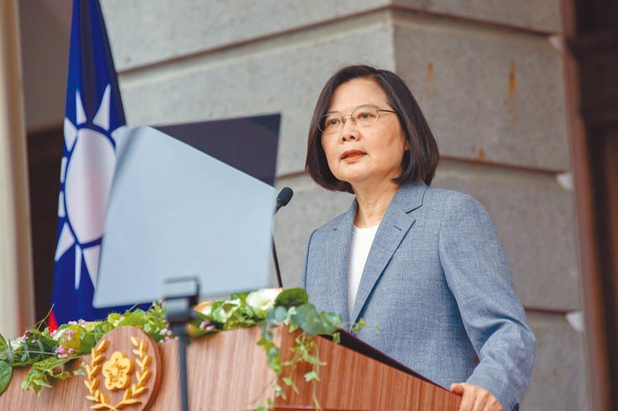中華民國第15任總統、副總統20日宣誓就職,蔡英文總統在台北賓館發表就職演說。(總統府提供)