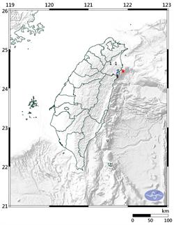 連2震!宜蘭近海規模3.4地震 最大震度3級