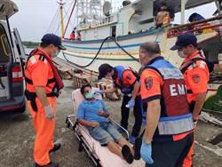 陸籍船員外海作業身體不適 海巡協助就醫