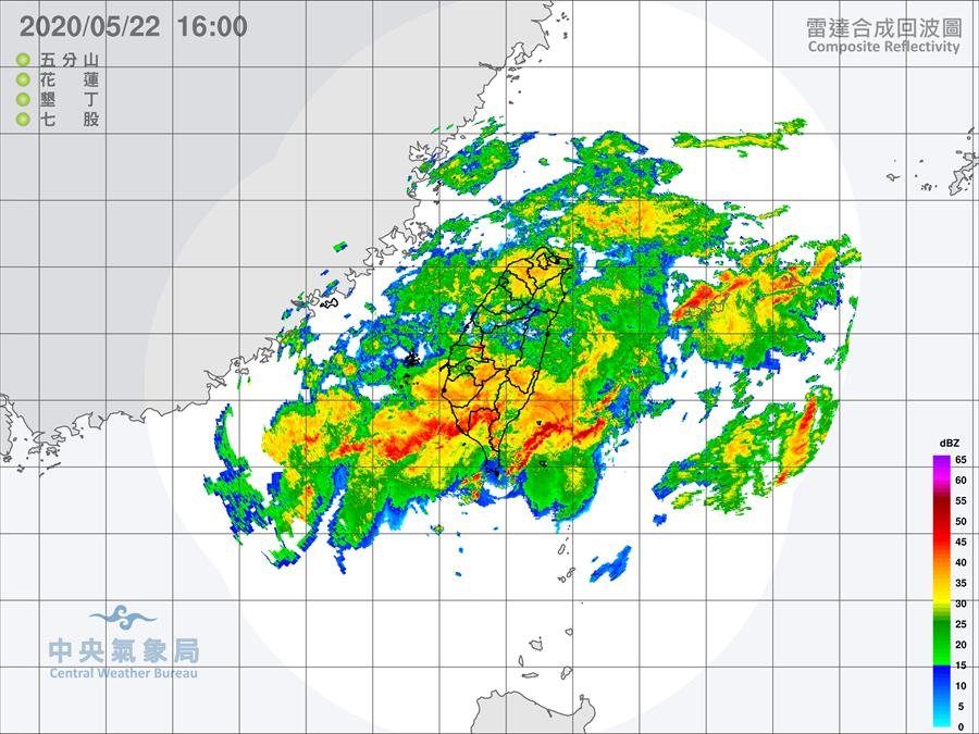列車狀回波炸出致災豪雨,屏東累計雨量近千,吳德榮表示,不足為奇。(圖/氣象局)